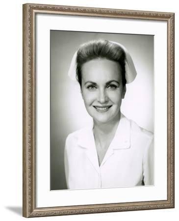 Portrait of Nurse Indoor-George Marks-Framed Photographic Print