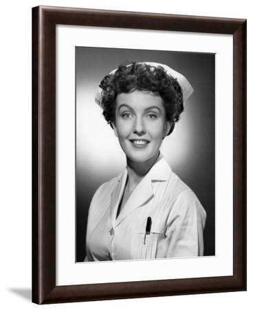Portrait of Nurse-George Marks-Framed Photographic Print