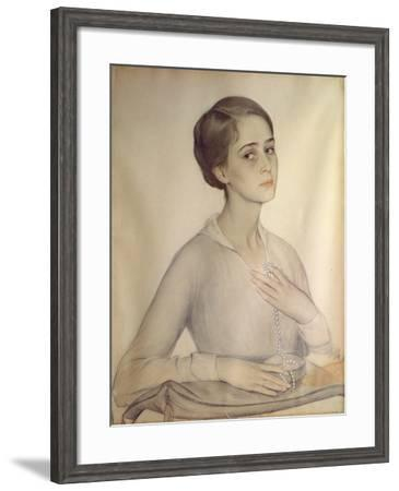 Portrait of Olga Spesivtseva, 1917-Savelij Abramovich Sorin-Framed Giclee Print