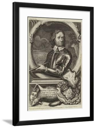 Portrait of Oliver Cromwell--Framed Giclee Print