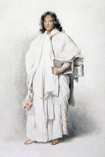 Portrait of Omai, Native of Ulaietea, Society Islands, Sent to London by James Cook--Giclee Print