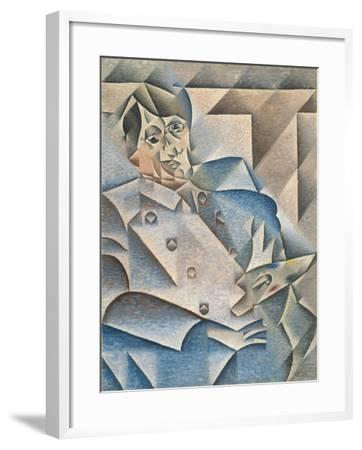Portrait of Pablo Picasso by Juan Gris--Framed Giclee Print