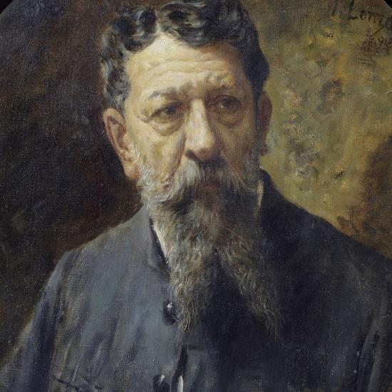 Portrait of Painter Scomparini-Antonio Lonza-Giclee Print