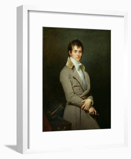 Portrait of Paulin-Guerin 1801-Robert Lefevre-Framed Giclee Print