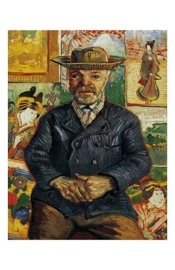 Portrait of Pere Tanguy-Vincent van Gogh-Art Print