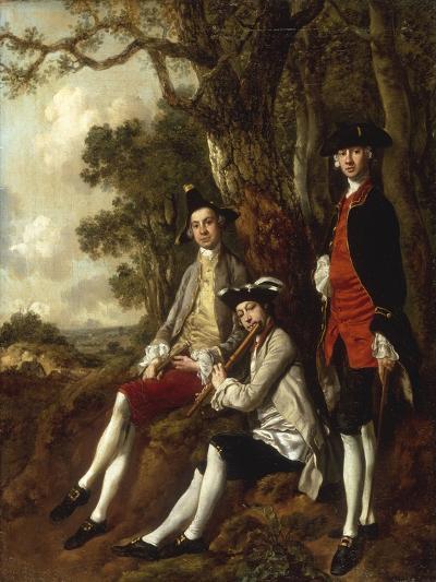 Portrait of Peter Darnal Muilman, Charles Crockatt and William Keeble-Thomas Gainsborough-Giclee Print