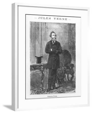"Portrait of Phileas Fogg, Illustration from ""Around the World in Eighty Days""-Alphonse Marie de Neuville-Framed Giclee Print"
