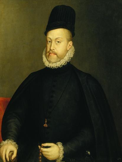 Portrait of Philip II-Alonso Sanchez Coello-Premium Giclee Print