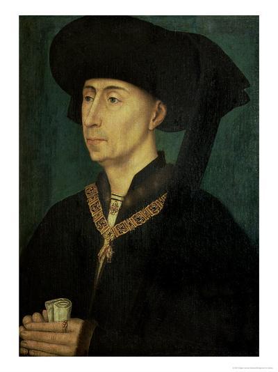 Portrait of Philip the Good (1396-1467) Duke of Burgundy-Rogier van der Weyden-Giclee Print