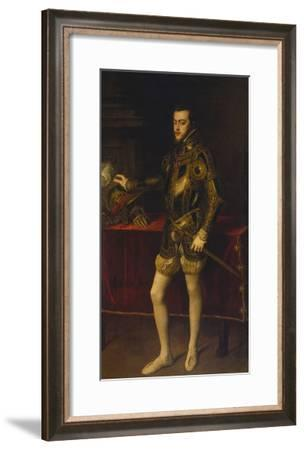 Portrait of Philipp Ii, 1551-Titian (Tiziano Vecelli)-Framed Giclee Print