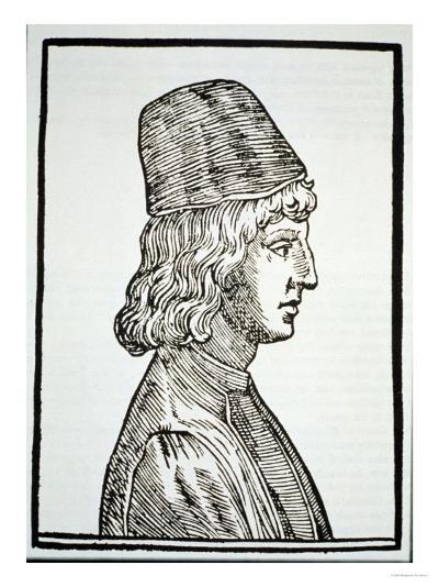 """Portrait of Pico Della Mirandola (1463-94), from """"Delle Celeste Fisionomia""""--Giclee Print"""