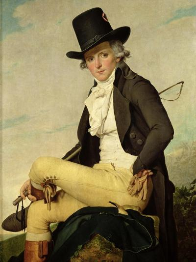 Portrait of Pierre Seriziat (1757-1847) the Artist's Brother-In-Law, 1795-Jacques-Louis David-Giclee Print