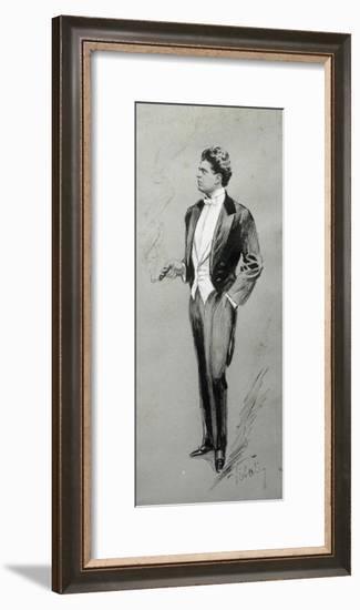 Portrait of Pietro Mascagni--Framed Giclee Print