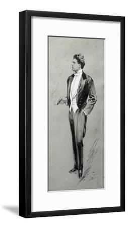 Portrait of Pietro Mascagni--Framed Giclee Print