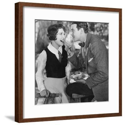 Portrait of Playful Couple--Framed Photo