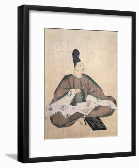 Portrait of Poet Yamabe No Akahito--Framed Giclee Print