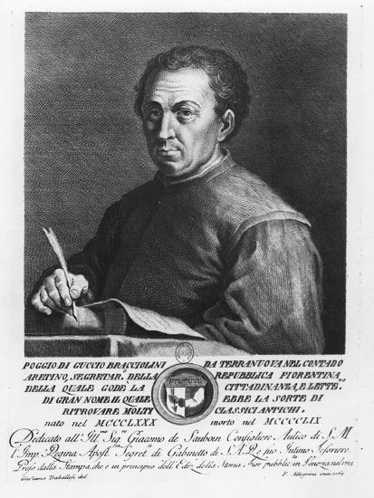 Portrait of Poggio Bracciolini, 1769-Francesco Allegrini-Giclee Print
