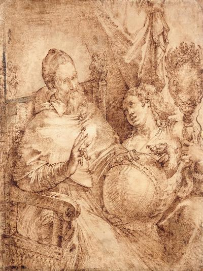 Portrait of Pope Gregory Xiii, Three-Quarter Length, Seated in an Armchair-Bartolomeo Passarotti-Giclee Print