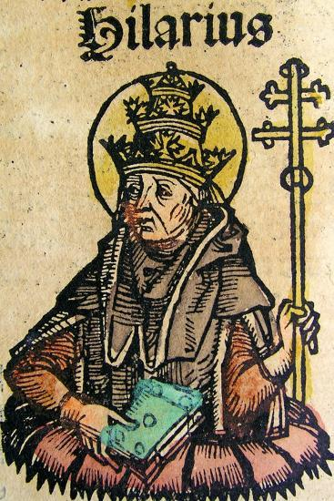 Portrait of Pope Hilarius, Published in the Nuremberg Chronicle, 1493--Giclee Print