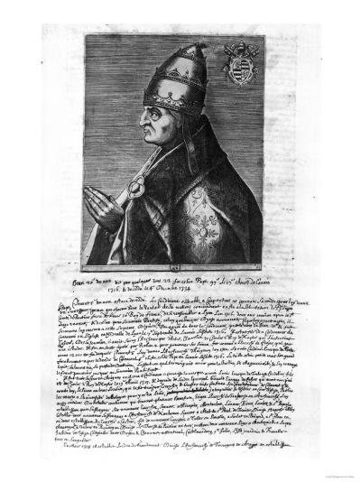 Portrait of Pope John XXII (1244-1334)--Giclee Print
