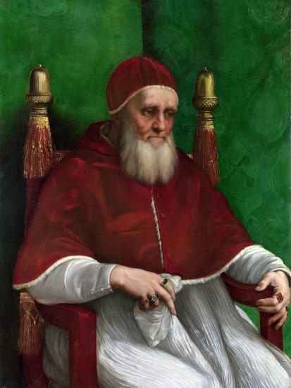 Portrait of Pope Julius II, 1511-Raphael-Giclee Print