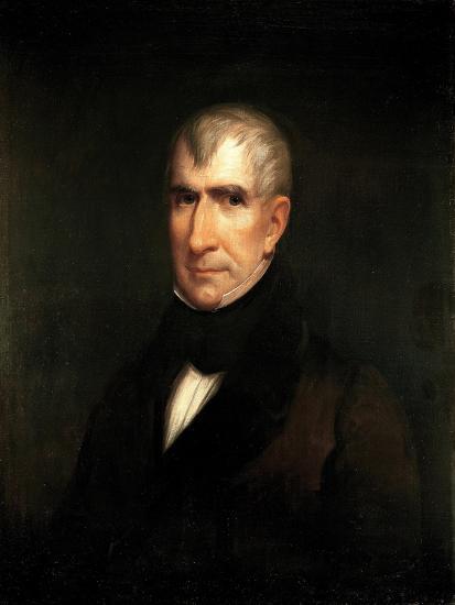 Portrait of President William Henry Harrison-James Reid Lambdin-Giclee Print