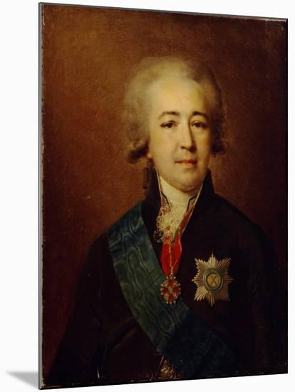 Portrait of Prince Alexander Kurakin (1752-181)-Johann-Baptist Lampi the Younger-Mounted Giclee Print
