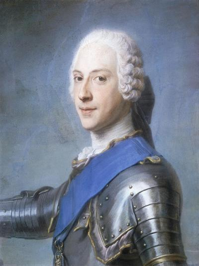 Portrait of Prince Charles Edward Stuart, Bust Length, in Profile to the Left, His Head Turned to…-Maurice Quentin de La Tour-Giclee Print