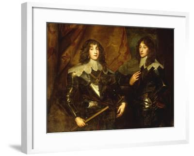 Portrait of Prince Charles Louis, Elector Palatine (1617-1680) and Prince Rupert (1619-1692)-Sir Anthony Van Dyck-Framed Giclee Print
