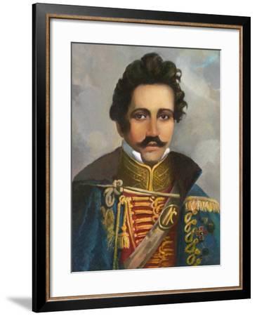 Portrait of Prince Nikolay Borisovich Galitzin (1794-186)--Framed Giclee Print
