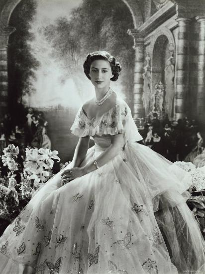 Portrait of Princess Margaret in Ballgown, Countess of Snowdon, 21 August 1930 - 9 February 2002-Cecil Beaton-Photographic Print