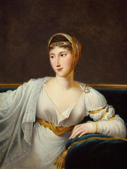 Portrait of Princess Pauline Borghese, Wife of General Leclerc-Robert Lefevre-Giclee Print