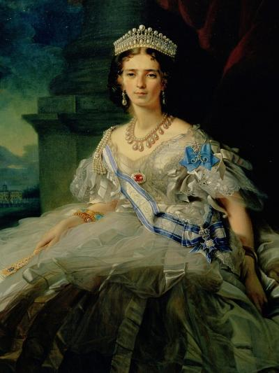 Portrait of Princess Tatiana Alexanrovna Yusupova, 1858-Franz Xaver Winterhalter-Giclee Print