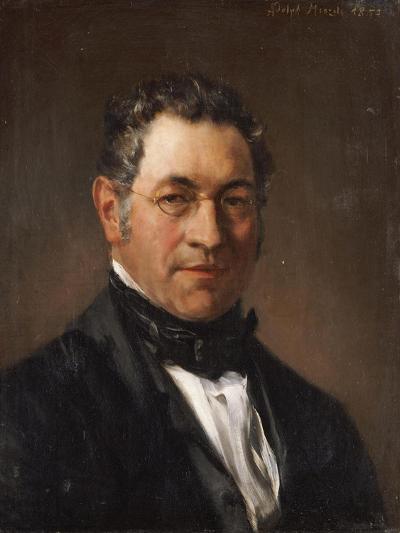 Portrait of Professor Siegfried Dehn (1799-1858)-Adolf Von Menzel-Giclee Print