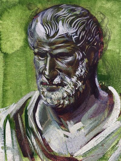 Portrait of Pythagoras (Samos, 570 Bc-Metaponto, 495 BC), Greek Philosopher and Mathematician--Giclee Print