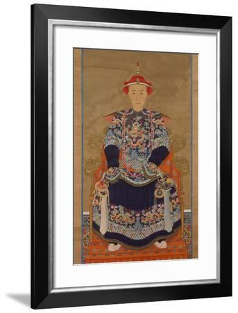 Portrait of Qianlong Emperor As a Young Man, Hanging Scroll-Chinese School-Framed Giclee Print