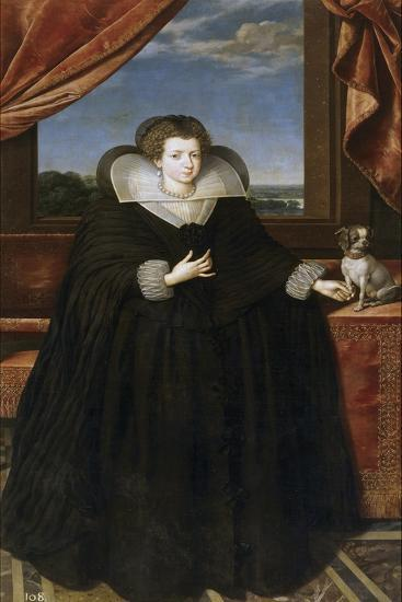 Portrait of Queen Elisabeth of France (1602-164), Queen Consort of Spain-Frans Francken the Younger-Giclee Print
