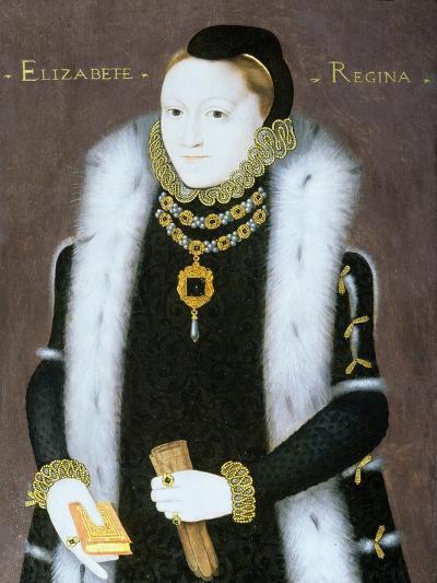Portrait of Queen Elizabeth I (1533-1603) C.1558--Giclee Print