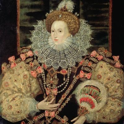 Portrait of Queen Elizabeth I - the Armada Portrait-George Gower-Giclee Print