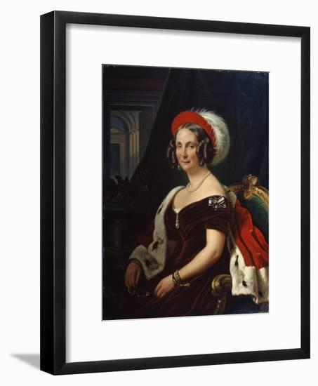 Portrait of Queen Frederica of Hanover, (1778-184), 19th Century-Franz Kruger-Framed Giclee Print