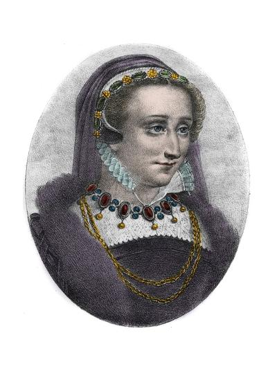 Portrait of Queen Jeanne D'albret of Navarre-Stefano Bianchetti-Giclee Print