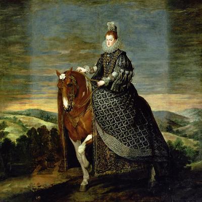 Portrait of Queen Margaret of Austria-Diego Velazquez-Giclee Print