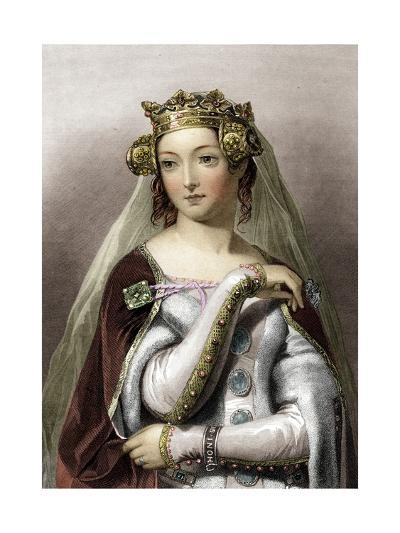 Portrait of Queen of England Philippa of Hainault--Giclee Print