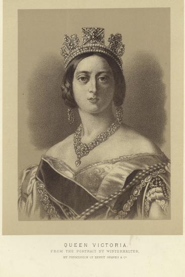 Portrait of Queen Victoria-Franz Xaver Winterhalter-Giclee Print