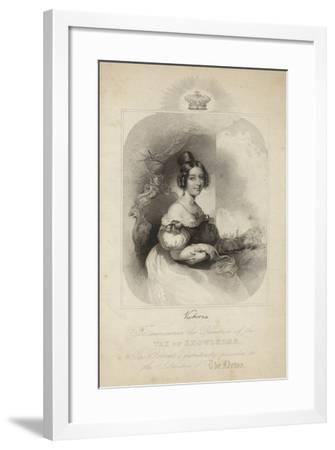 Portrait of Queen Victoria--Framed Giclee Print