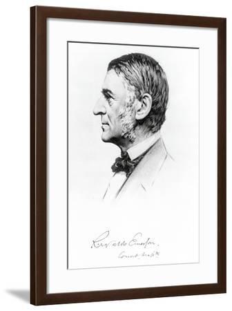 Portrait of Ralph Waldo Emerson--Framed Giclee Print