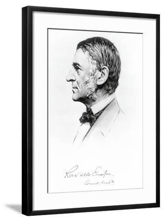 Portrait of Ralph Waldo Emerson--Framed Giclee Print