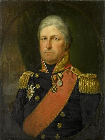 Portrait of Rear-Admiral Job Seaburne May-Jan Willem May-Art Print