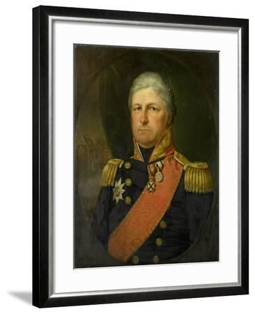 Portrait of Rear-Admiral Job Seaburne May-Jan Willem May-Framed Art Print