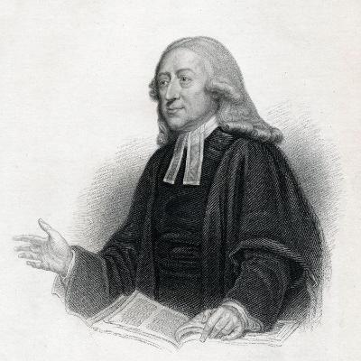 Portrait of Reverend John Wesley A. M., 19th Century--Giclee Print